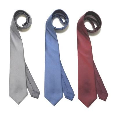STEFANO RICCI ステファノ リッチ ジャカード織りネクタイ パネル切り替え シルク ソリッドタイ