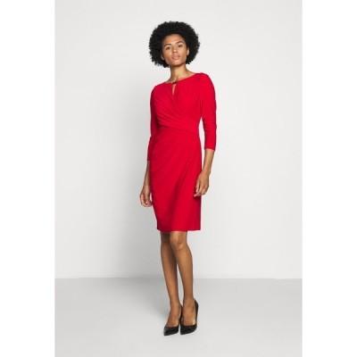 ラルフローレン ワンピース レディース トップス MID WEIGHT DRESS TRIM - Shift dress - orient red