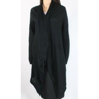 ファッション トップス Joe Fresh Womens Black Medium M Draped Open Front Cardigan Sweater