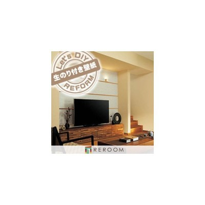 生のり付き壁紙 切売 切売り シンコール BA-5465 和 もとの壁紙の上から貼れます。下敷きテープ付き 貼りやすく簡単 DIY (REROOM)