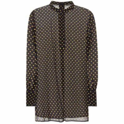 ジョゼフ Joseph レディース ブラウス・シャツ トップス Marla polka-dot silk blouse Navy