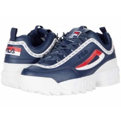 Fila フィラ メンズ 男性用 シューズ 靴 スニーカー 運動靴 Disruptor II Premium Fila Navy/White/Fila Red【送料無料】