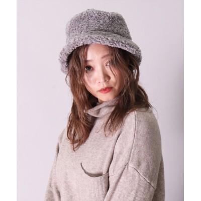 BAYBLO / 【ユニセックス】【サイズ調整可能】もこもこ シープ ボア バケットハット (CR) WOMEN 帽子 > ハット