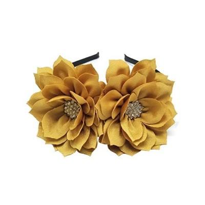 Coolwife Fascinator Headband Hair Clip Lotus Flower Bridal Headpieces