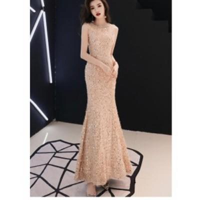ロングドレス 二次会 マーメイドドレス パーティードレス 結婚式 上品 高級 フォーマル マキシ丈ワンピース お呼ばれ 大きいサイズ 発表