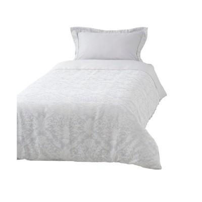 ベッド 寝具 ルブレス 掛け布団カバー シングル ライトグレー