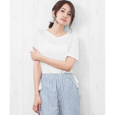 mili an deni / 半袖ナノファインVネックTシャツ WOMEN トップス > Tシャツ/カットソー