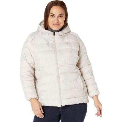 ユーエスポロアッスン U.S. POLO ASSN. レディース ダウン・中綿ジャケット 大きいサイズ アウター Plus Size Faux Fur Line Jacket Winter Pearl