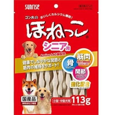 マルカン サンライズ ゴン太のほねっこシニア Mサイズ 113g SSB-020 ドッグフード 犬用おやつ