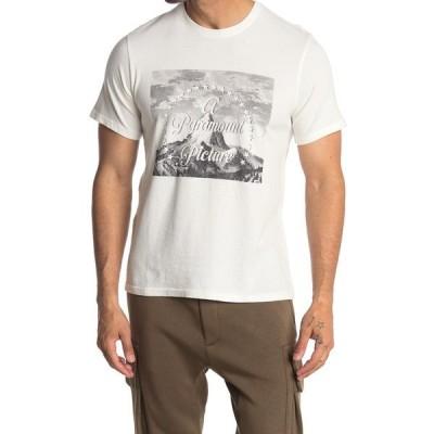 ラッキーブランド メンズ Tシャツ トップス Paramount Title Graphic Logo Tee BRIGHT WHI