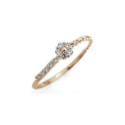 ダイヤモンド エンゲージリング 10th フラワー 指輪