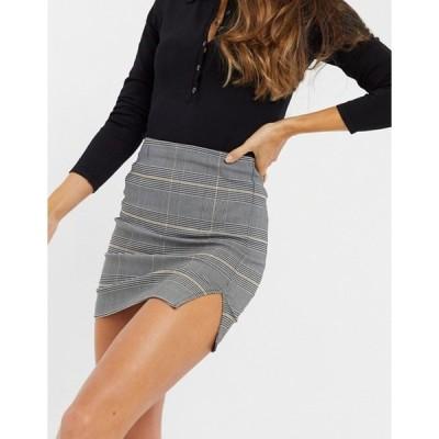 ミスセルフフリッジ レディース スカート ボトムス Miss Selfridge mini skirt in mono check