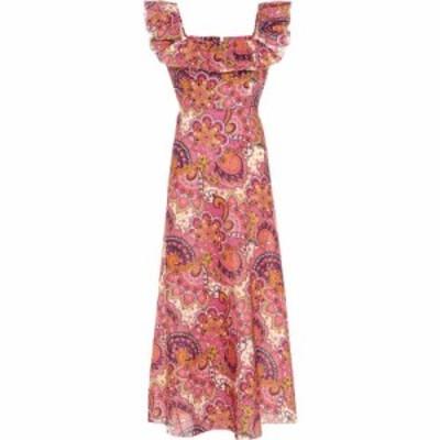 ジマーマン Zimmermann レディース ワンピース ワンピース・ドレス Carnaby floral linen dress Pink Paisley