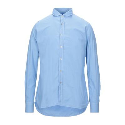 LIU •JO MAN シャツ ブルー 40 コットン 100% シャツ