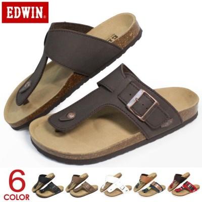 EDWIN サンダル メンズ トングサンダル ビルケン風 男性 EW9123
