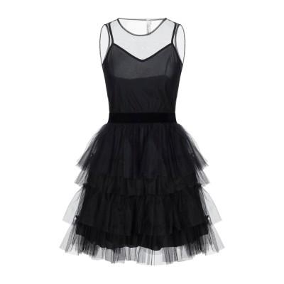 スーベニア SOUVENIR ミニワンピース&ドレス ブラック S ナイロン 100% / ポリエステル ミニワンピース&ドレス