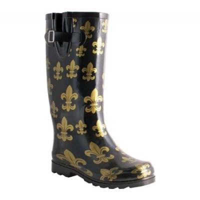 ノマド Nomad レディース レインシューズ・長靴 シューズ・靴 Two Classic Rain Boot Black/Gold Fleur De Lis