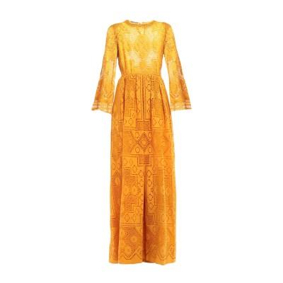 アルベルタ フェレッティ ALBERTA FERRETTI ロングワンピース&ドレス あんず色 38 コットン 80% / ナイロン 20% ロング