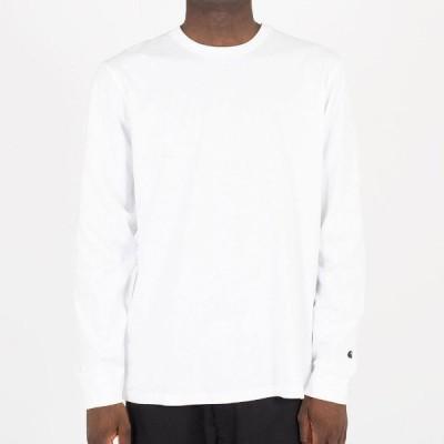 カーハート Tシャツ メンズ 正規販売店 CARHARTT WIP 無地ロンT 長袖Tシャツ LONG SLEEVE BASE T-SHIRT WHITE/BLACK I026265 02