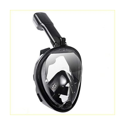 Lightahead 180° Panoramic Full Face Scuba Snorkel Diving Mask Anti-Fog Anti-Leak with Easy Breath Design & Adjustable Head Straps (with Cam