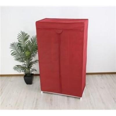 スーツラック 約幅91cm レッド [▲][TP]