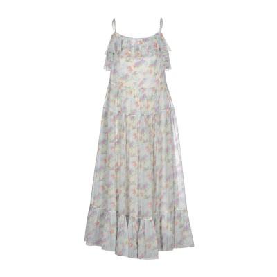 SAINT LAURENT ロングワンピース&ドレス ホワイト 38 シルク 100% ロングワンピース&ドレス