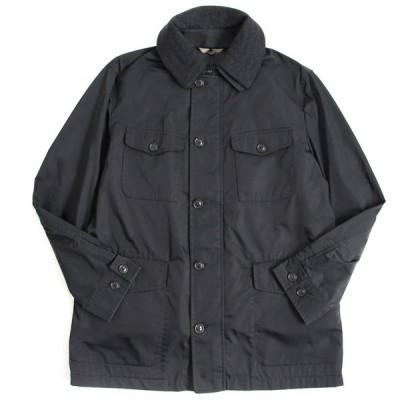 良品▽バーバリーロンドン 襟レイヤードデザイン 中綿入りライナー付き ボタン×ZIP ジャケット ブラック L 正規品 メンズ