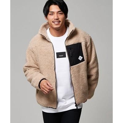 ジャケット ブルゾン モコモコニットボアスタンドジャケット / CABD20-08【/】