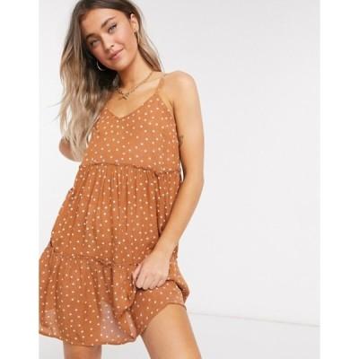 ウェンズデーガール レディース ワンピース トップス Wednesday's Girl mini cami smock dress in polka dot