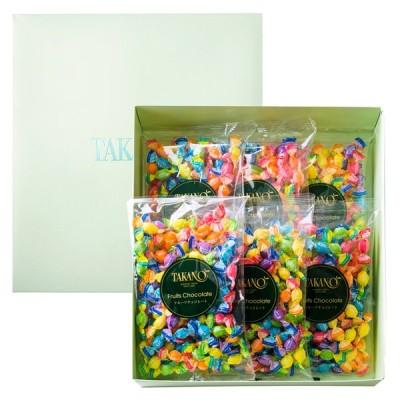 プチギフト プレゼント 手土産 お返し 【公式】 新宿高野 フルーツチョコレート平袋6入EA(プレゼント袋付)