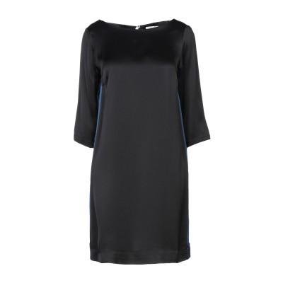 OTTOD'AME ミニワンピース&ドレス ブラック 38 レーヨン 100% ミニワンピース&ドレス