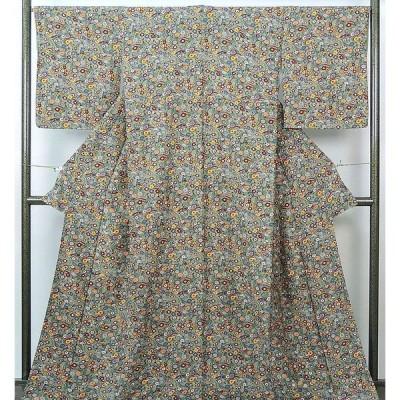 小紋 新品仕立済 正絹 菊松梅模様 小紋 新品  仕立て上がり  着物