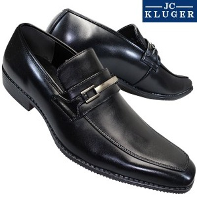 JC KLUGER ジェイシークルーガー JC7800 ブラック メンズ ビジネスシューズ ビジネス靴 ビット付き スリッポン 黒靴 紳士靴 シューズ