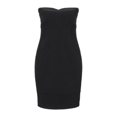 マニラ グレース MANILA GRACE ミニワンピース&ドレス ブラック 38 ポリエステル 90% / ポリウレタン 10% ミニワンピース&
