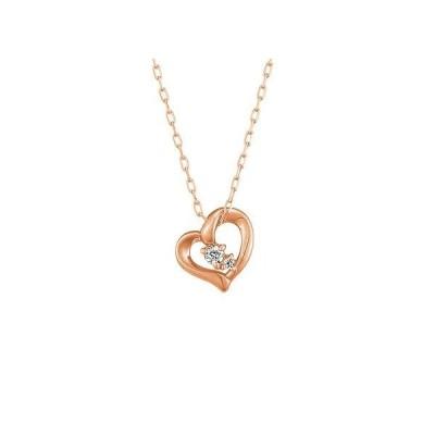 4℃ ヨンドシーネックレス 正規品 新作新品 K18ピンクゴールド ハート ネックレス ダイヤモンド 4℃ 正規ラッピング 111721123101