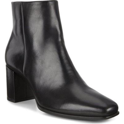 エコー ECCO レディース ブーツ スクエアトゥ シューズ・靴 Shape 60 Square Toe Bootie Black Leather