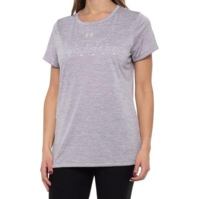 アンダーアーマー Under Armour レディース トップス tech graphic shirt - short sleeve Slate Purple Medium Heather