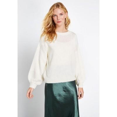 レディース ニット・セーター トップス just my stripe pullover sweater ivory