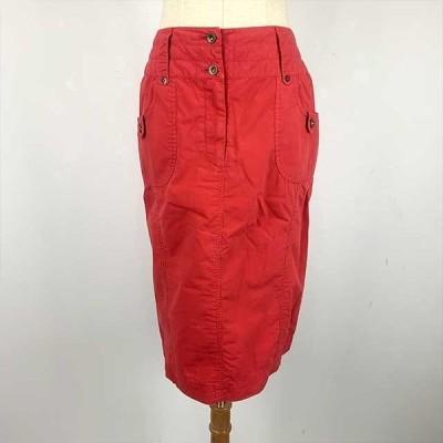 [Beshela] タイトスカート 綿100% レッド レディース Mサイズ クリックポスト対応