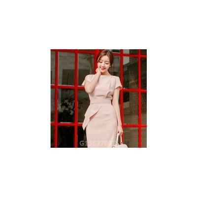 レディースワンピース新作上品スプライスパーティーファッションOLドレス