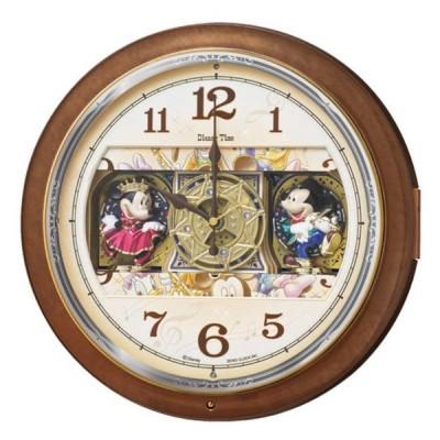 セイコー 電波からくり掛け時計「Disney Time(ディズニータイム)ミッキー&ミニー」 FW587B