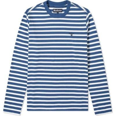 バブアー Barbour メンズ 長袖Tシャツ トップス Long Sleeve Matelot Tee Mid Blue