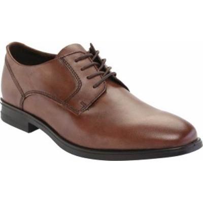 エコー メンズ スニーカー シューズ Men's ECCO Queenstown Plain Toe Tie Oxford Amber Full Grain Leather