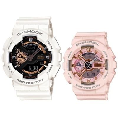 ペア ウォッチ ホワイト ピンク お揃い Gショック ジーショック カシオ 腕時計 メンズ レディース BASIC ビッグケースシリーズ Sシリーズ アナデジ 海外モデル