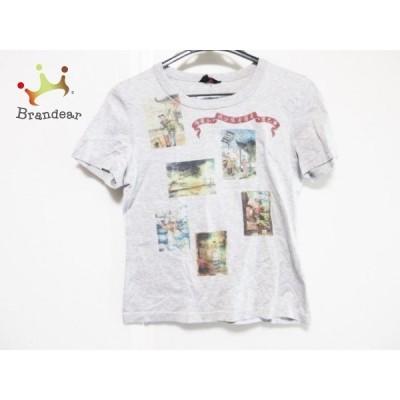 ユキトリイ YUKITORII 半袖Tシャツ サイズ38 M レディース グレー×レッド×マルチ   スペシャル特価 20200801