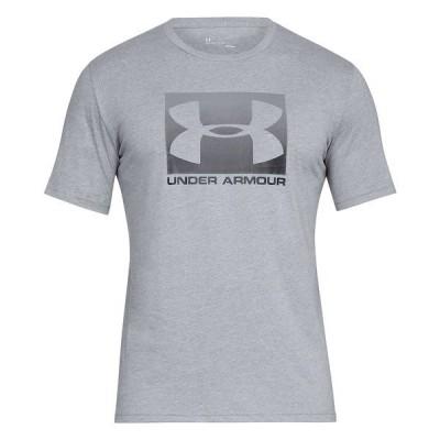 アンダーアーマー Tシャツ トップス メンズ Men's Boxed Sportstyle T-Shirt Steel Gray