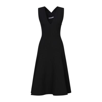 CAMILLA AND MARC 7分丈ワンピース・ドレス ブラック 10 ポリエステル 95% / ポリウレタン 5% / コットン 7分丈ワンピ