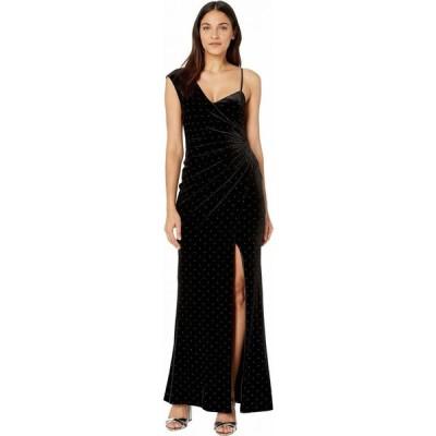 ビーシービージーマックスアズリア BCBGMAXAZRIA レディース パーティードレス ワンピース・ドレス Velvet Gown with Studs Black