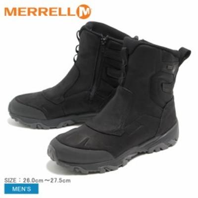 秋新作 メレル ブーツ メンズ コールドパックアイス プラス8 ジップポーラー ウォータープルーフ MERRELL J92025