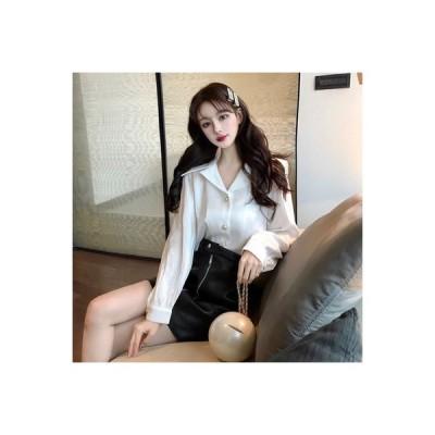 【送料無料】韓国風 エレガント ラペル シフォンシャツ 若くなる 気質 | 364331_A64028-5222827